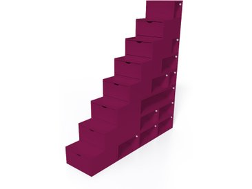 Escalier Cube de rangement hauteur 200 cm  Prune