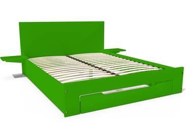 Lit Happy + tiroirs + chevets amovibles - 2 places 140x190cm Vert