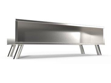 Table Basse Scandinave rectangulaire Viking bois  Gris Aluminium