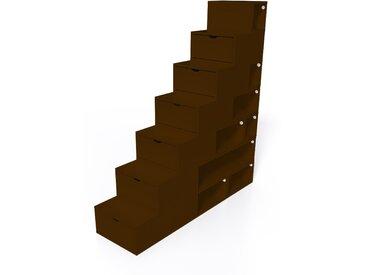 Escalier Cube de rangement hauteur 175 cm  Wengé