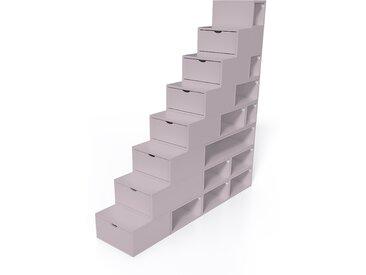 Escalier Cube de rangement hauteur 200 cm  Violet Pastel