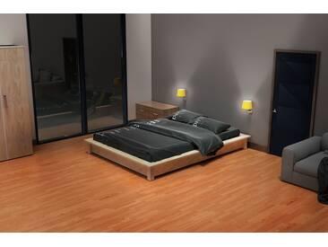 Lit futon Solido bois Massif - 2 places 160x200cm Brut