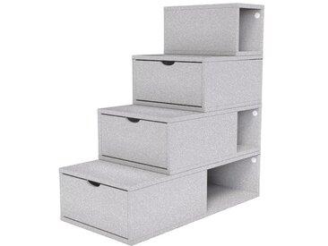 Escalier Cube de rangement hauteur 100 cm  Gris Aluminium