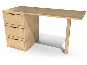 Bureau Cube 3 tiroirs  Miel