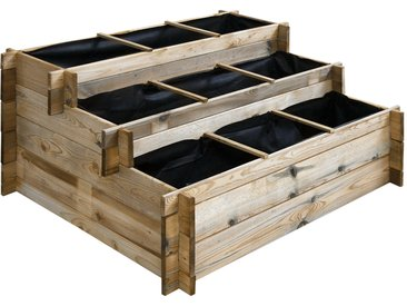 Carré potager en bois à étages - Grand modèle
