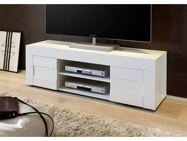 Meuble tv Cortina blanc brillant Basika