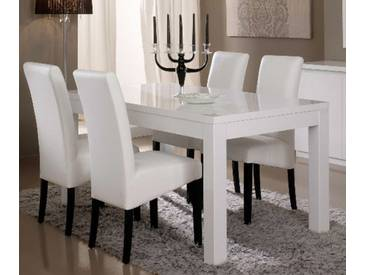 Table de repas Roma laqué blanc Blanc Basika