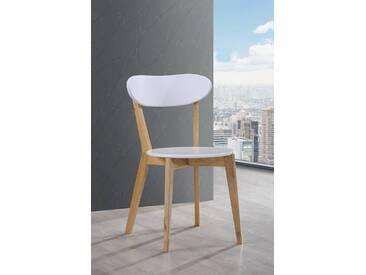 Chaise Oslo Blanc/naturel Basika