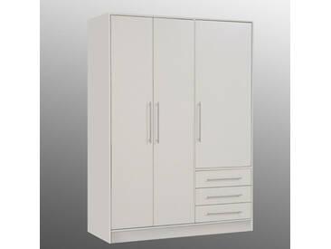 Armoire 3 portes 3 tiroirs Jupiter Blanc mat Basika