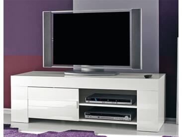 Meuble tv Livorno laque blanc Laque blanc Basika
