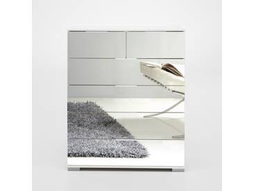 Commode 4+2 tiroirs Easy plus c Blanc/miroir Basika