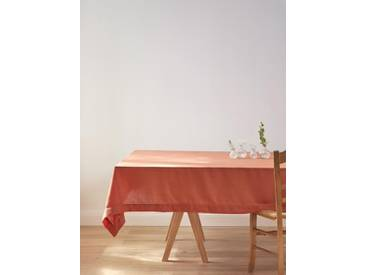 Nappe anti-taches aspect lin terracotta