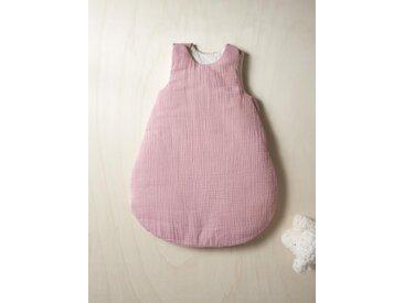Gigoteuse en coton gaufré rose fané