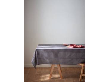 Nappe en broderie anglaise gris