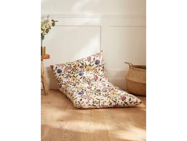 Matelas futon fleuri blanc
