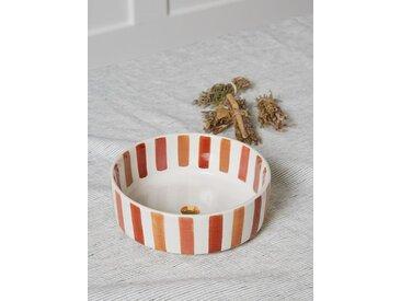 Saladier rayé céramique Chabi Chic rayé marsala/orange/rose