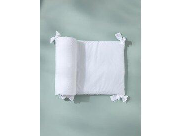 Tour de lit plumetis blanc