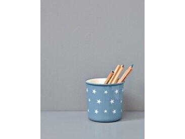 Pot à crayons étoiles bleu/étoiles