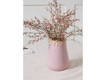 Vase céramique et raphia Chabi Chic vieux rose
