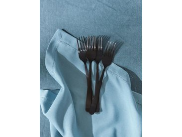 Fourchette en métal mat par lot de 4 noir mat