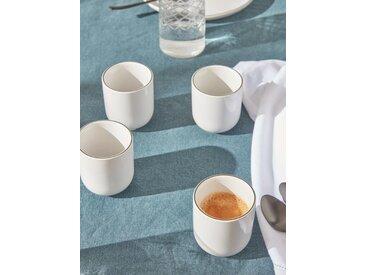 Tasse à café par lot de 4 blanc/noir