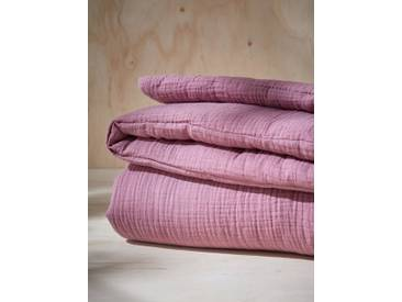 Boutis en tissu gaufré prune