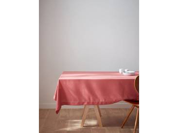 Nappe anti-taches aspect lin rouge marsala