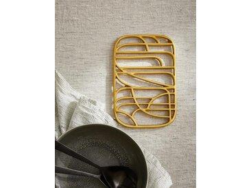 Dessous de plat en métal doré