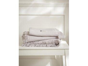Serviette de toilette nid d'abeille gris