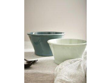 Saladier céramique par lot de 2 bleu
