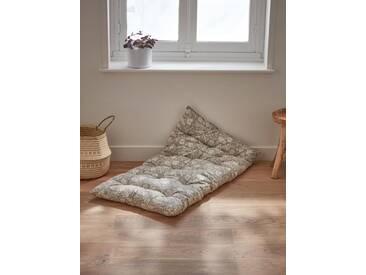 Matelas futon gris imprimé