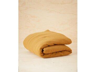 Boutis en tissu gaufré caramel