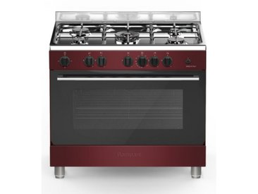 Piano de cuisson COOKING 5 feux gaz + 1 four gaz de BOMPANI - 90x60cm - Bordeaux