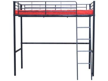 Lit mezzanine CLEVER - 90x190cm - Noir