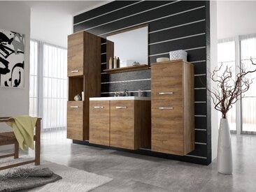 Ensemble MAJA - meubles de salle de bain - effet bois