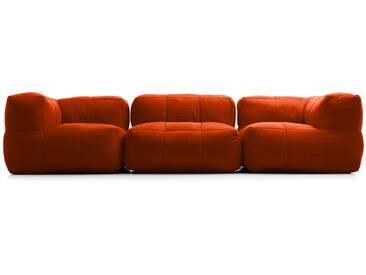 Canapé modulable 3 places en tissu APRIL de UBAGS - Rouge