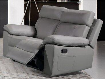 Canapé 2 places relax en simili WIGAN - Gris