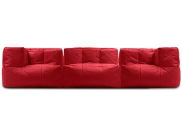 Canapé modulable 3 places dextérieur en tissu TYRON de UBAGS - Rouge