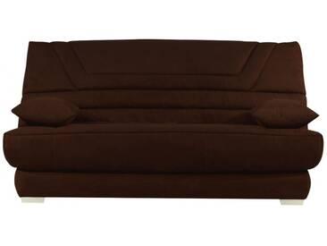 Canapé clic-clac en microfibre TULSA avec matelas BULTEX  - Chocolat