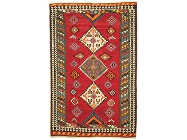 Tapis Persan Kilim Fars Ancien 229x148 Kilim Fars Ancien Marron Foncé/Rouille (Noué à la main, Perse/Iran, Laine)