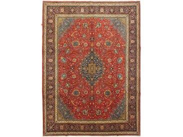 Tapis Persan Sarough 397x289 Sarough Beige/Marron (Noué à la main, Perse/Iran, Laine)