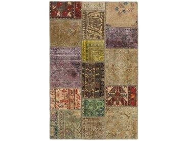 Tapis Patchwork 163x107 Moderne/Design Beige/Marron Foncé (Noué à la main, Laine, Perse/Iran)