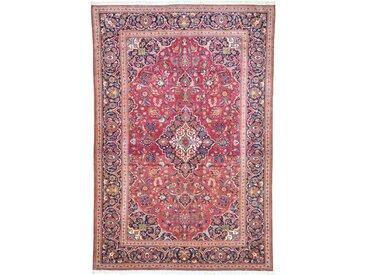 Tapis Persan Kashan 207x133 Kashan Beige/Rose (Noué à la main, Perse/Iran, Laine)