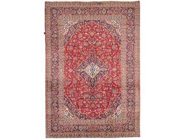 Tapis Persan Kashan 361x250 Kashan Beige/Marron Foncé (Noué à la main, Perse/Iran, Laine)