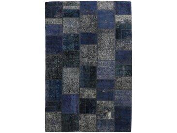 Tapis Patchwork 245x169 Moderne/Design Gris Foncé/Bleu Foncé (Noué à la main, Laine, Perse/Iran)