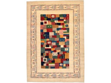 Tapis Persan Gabbeh Loribaft 268x189 Moderne/Design Beige/Rose (Noué à la main, Laine, Perse/Iran)