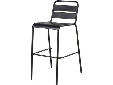 Chaise de bar de jardin en métal noir Batignolles