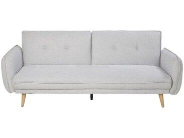 Canapé-lit 3 places gris clair Jody