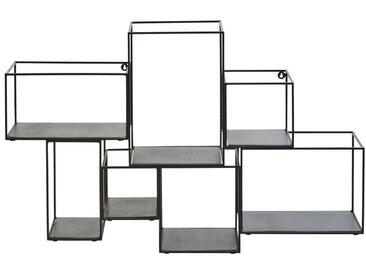 Etagères cubes en métal noir