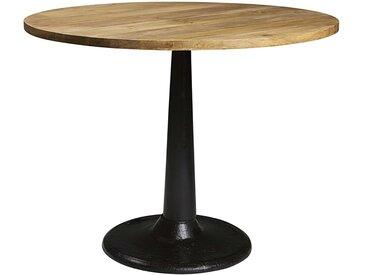 Table à manger ronde en manguier et métal 4/6 personnes D115 Factory